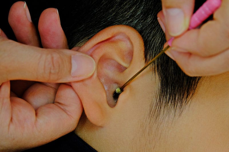 checking-clogged-ear-canal